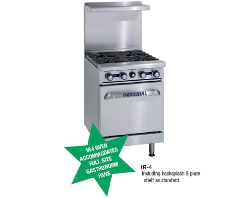 Imperial Gas 4 Burner Open Top Range Oven IR4