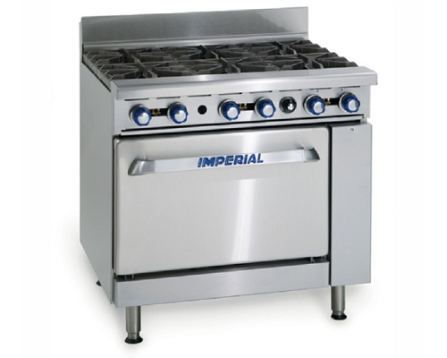 Imperial Gas 6 Burner Open Top Range Oven IR6