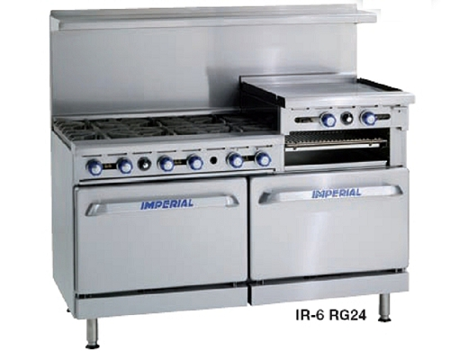 Imperial Gas 6 Burner Open Top Range Oven IR6RG24