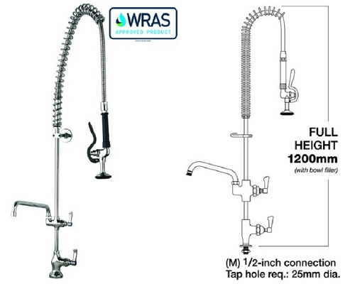 "MECHLINE AquaJet 10 Deck mount Pre-Rinse Single Feed +12"" Faucet"