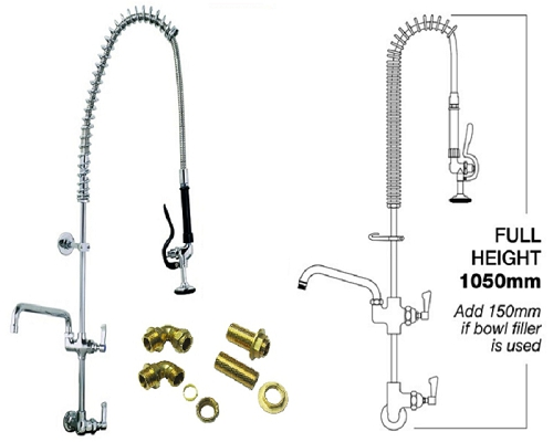 MECHLINE AquaJet 15 Rear mounted Pre-Rinse Single Feed+ Faucet