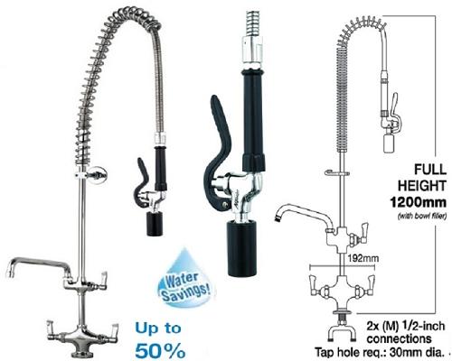 MECHLINE AquaJet 20 Pre-Rinse Spray 12\