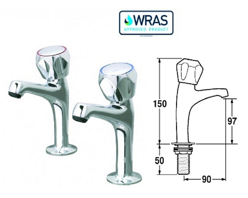 CaterTap 1/2-inch Sink Taps (pair)