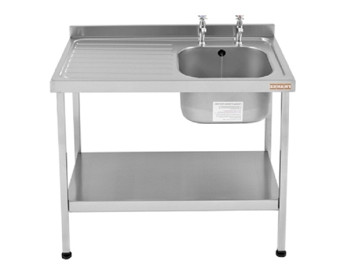 Franke Sissons Catering sink 1200x600 mm with left hand drainer