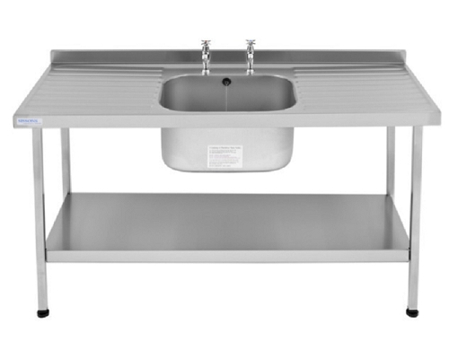 Franke Sissons Catering sink 1500x600 single bowl double drainer