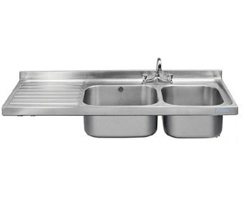 Franke Sissons Catering sink only, 1500x600 mm left hand drainer