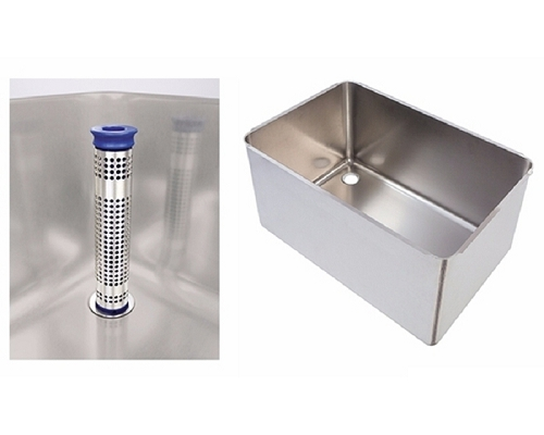 Fabricated Pot wash sink LH 760x500x370mm strainer & waste