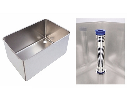 Fabricated Pot wash sink RH 760x500x370mm strainer & waste