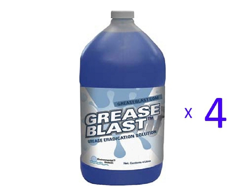 GREASEBLAST BIO MEDIA 3.78 LITRES Fluid pack 4 bottles