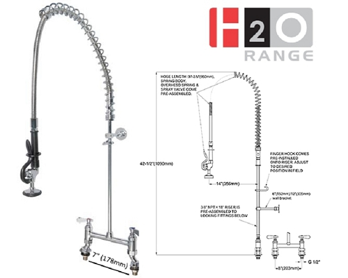 H2O Deck Mount Pre-rinse Unit DP601BR