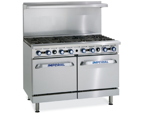 Imperial Gas 8 Burner Open Top Range Oven IR8
