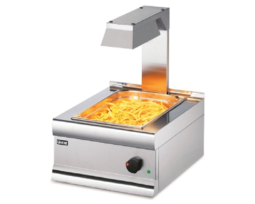 Lincat Silverlink 600 Electric Counter-top Chip Scuttle with Overhead Gantry  CS4/G