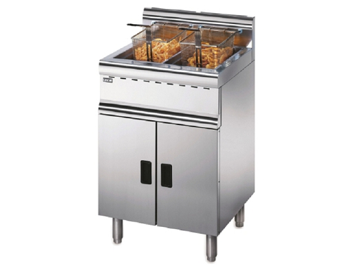 Lincat Silverlink 600 Natural Gas Free-Standing Twin Tank Fryer - 2 Baskets  J10/N