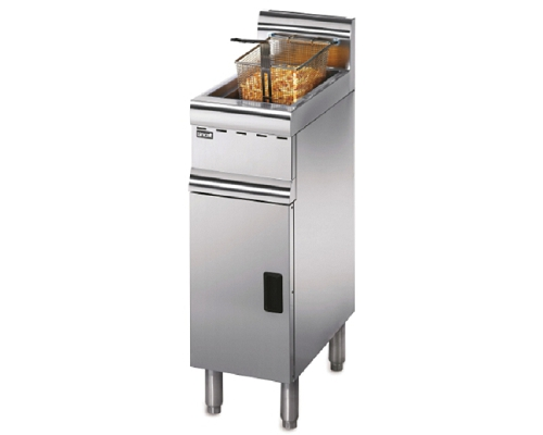 Lincat Silverlink 600 Natural Gas Free-Standing Single Tank Fryer - 1 Basket  J5/N