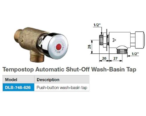 Mechline Tempostop Automatic Shut-Off Wash-Basin Tap