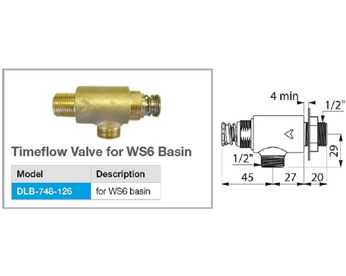 Mechline Timeflow Valve for WS6 Basin DLB-748-126