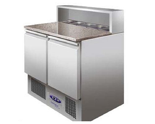 TEFCOLD Gastronorm Pizza Refrigerated Counter PT920