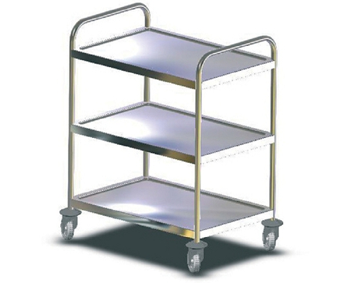 Craven Fully Welded Stainless Steel Trolley - 3 Shelves RSE11-Z