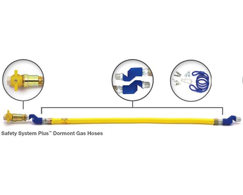 "Dormont 1"" Safety System Plus™ Gas Hoses 1m"