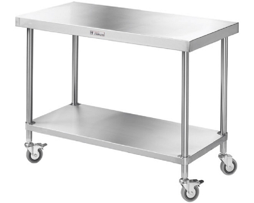 Simply Stainless SS030600 MOBILE CENTRE TABLE Tabling