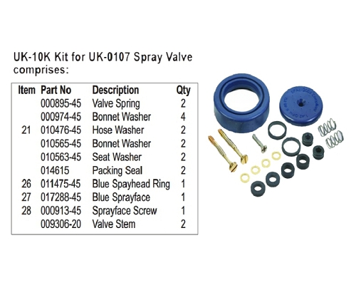 T&S UK-10K Kit for UK-0107 Spray Valve