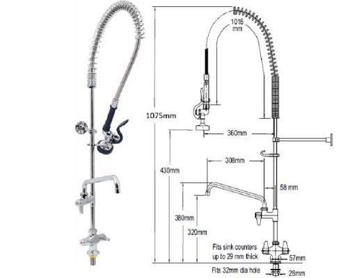 T&S Brass Mono-standard spray head-12\